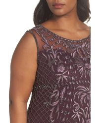 Pisarro Nights Purple Embellished Gown (plus Size)