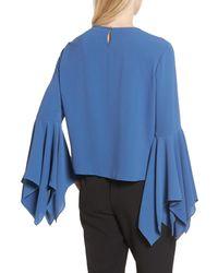 Vince Camuto - Blue Handkerchief Sleeve Blouse - Lyst