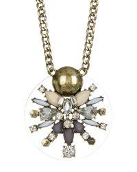 BaubleBar - Metallic Nova Crystal & Stone Pendant Necklace - Lyst