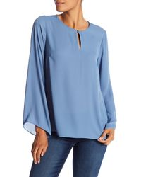 Vince Camuto - Blue Bell Sleeve Keyhole Blouse - Lyst