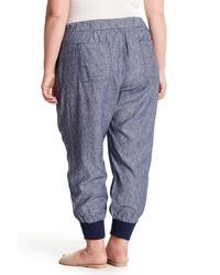 Joe Fresh - Blue Linen Blend Joggers (plus Size) - Lyst