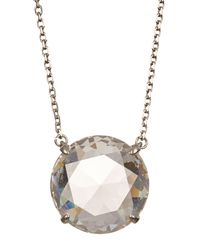 Marc Jacobs - Metallic Large Stone Pendant Necklace - Lyst