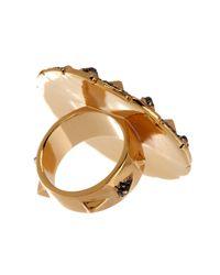 House of Harlow 1960 - Metallic Ornamental Medallion Ring - Size 5 - Lyst
