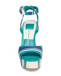 Dolce Vita - Blue Gavvin Stripe Platform Sandal - Lyst