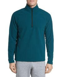 Zella - Blue Quarter Zip Fleece Pullover for Men - Lyst