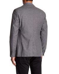 John Varvatos - Gray Convertible Collar Jacket for Men - Lyst