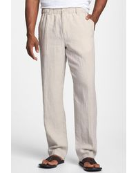 859c5e51dc Lyst - Tommy Bahama 'new Linen On The Beach' Easy Fit Pants for Men