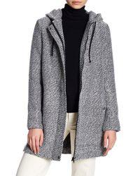 Jack BB Dakota | Black Herbert Textured Print Hooded Jacket | Lyst
