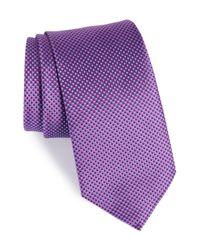Eton of Sweden - Purple Microdot Silk Tie for Men - Lyst