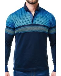 Maceoo - Polo L Degraded Circle Blue for Men - Lyst