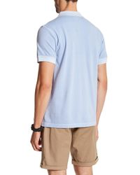Gant - Blue Solid Pique Polo for Men - Lyst