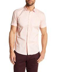 Parke & Ronen | Pink Woven Short Sleeve Slim Fit Shirt for Men | Lyst