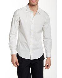 Parke & Ronen - White Printed Long Sleeve Slim Fit Shirt for Men - Lyst