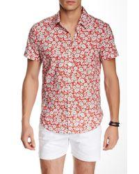 Parke & Ronen - Red Biscayne Short Sleeve Slim Fit Shirt for Men - Lyst
