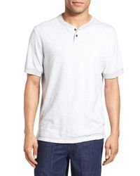 Surfside Supply - White Regular Fit Space Dyed Short Sleeve Henley for Men - Lyst