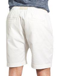 Surfside Supply - White Stretch D-ring Belt Short for Men - Lyst
