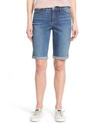 NYDJ - Blue Briella Roll Cuff Stretch Denim Shorts (heyburn) (regular & Petite) - Lyst