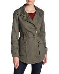 Guess | Green Twill Field Jacket | Lyst