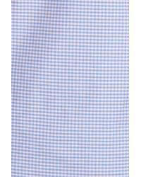 Jeremy Argyle Nyc - Blue Slim Fit Mini Check Sport Shirt for Men - Lyst