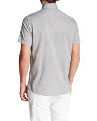 Report Collection - Gray Short Sleeve Fleck Horizon Print Shirt for Men - Lyst