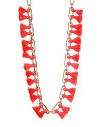 BaubleBar | Multicolor Sebastian Tassel Collar Necklace | Lyst