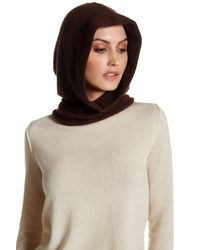 Portolano | Chocolate Brown Cashmere Hood | Lyst