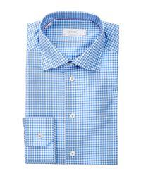 Eton of Sweden | Blue Slim Fit Gingham York Twill Shirt for Men | Lyst