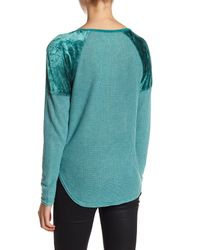 Lucky Brand - Green Thermal Texture Tee - Lyst
