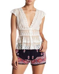 Raga | White English Meadow Embroidered Lace Blouse | Lyst