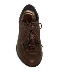 Naot - Brown Yama Suede Oxford - Lyst