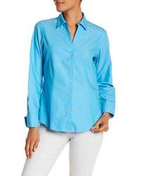 Foxcroft - Blue Lauren Fitted Shirt - Lyst