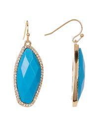 BaubleBar   Blue Stone Drop Earrings   Lyst