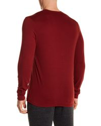 Threads For Thought - Red Long Sleeve Pocket Tee for Men - Lyst