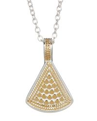 Anna Beck - Metallic Sterling Silver & 18k Gold Reversible Fan Pendant Necklace - Lyst