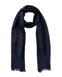 John Varvatos - Blue Peace Flag Merino Wool Scarf for Men - Lyst