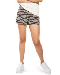 TOPSHOP - Multicolor Matchstick Print Shorts - Lyst