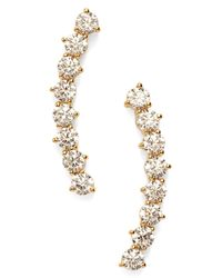 Nadri - Metallic 'salome' Cubic Zirconia Ear Crawlers - Lyst