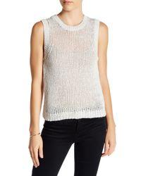 360cashmere | White Marian Silk Blend Knit Sweater Tank | Lyst
