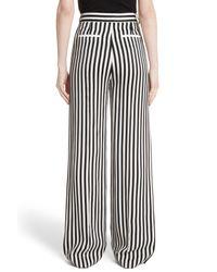 Victoria, Victoria Beckham | Black Stripe Wide Leg Tuxedo Pants | Lyst