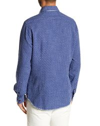Borgo 28 - Blue Jacquard Modern Fit Shirt for Men - Lyst