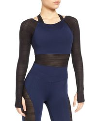 Ivy Park | Blue Linear Mesh Double Layer Bodysuit | Lyst
