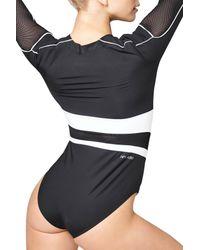 Ivy Park - Black Biker Colorblock Bodysuit - Lyst