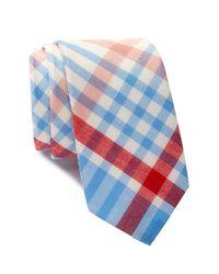Original Penguin   Blue Terrance Plaid Tie for Men   Lyst