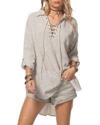 Rip Curl | Multicolor Sandbar Lace-up Tunic | Lyst