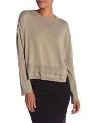 Inhabit - Natural Double Hem Knit Pullover - Lyst