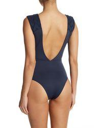 Tavik - Blue Eden Deep-v One-piece Swimsuit - Lyst
