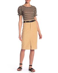 069c2127db Free People Rosemary Corduroy Pencil Skirt in Natural - Lyst