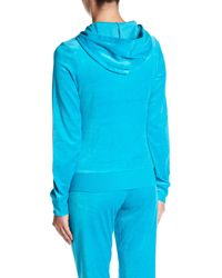 Juicy Couture - Blue Robertson Velour Front Zip Jacket - Lyst