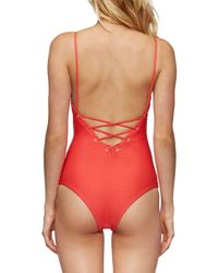 Tavik Red Monahan One-piece Swimsuit