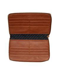 Steve Madden - Brown Zip Around Travel Wallet - Lyst